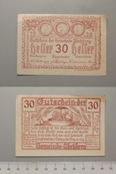 30 Heller from Abekberg, redeemable Dec. 12, 1920, Notgeld