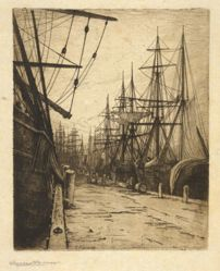 Evening in the Atlantic Docks