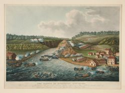 The Battle of Queenstown, Oct. 13, 1813, published for J. Jenkins Martial Achievements
