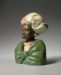Verdite African Tribal Bust Xhosa Woman: Transkei
