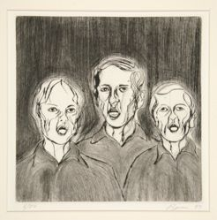 Untitled (3 screaming heads)
