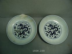 Pair of Dishes of Impure Porcelain