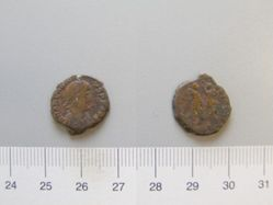 Nummus of Theodosius II, Emperor of Rome from Unknown