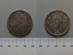 Halfcrown of George IV, King of Great Britain from England