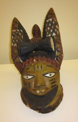 Egungun Mask Representing a Man with Hare's Ears