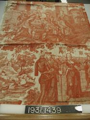 """Length of printed cotton, """"Jeanne d'Arc"""""""
