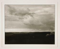 View of the Siebengebirge from Eichelhard, from the portfolio Rhineland Landscapes by August Sander