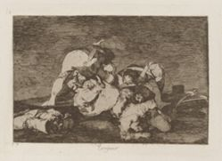 Tampoco (Nor [Do These] Either), pl. 10 from the series Los desastres de la guerra (The Disasters of War)