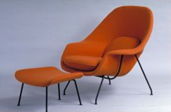 """""""Womb"""" chair and ottoman"""