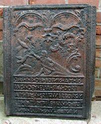 "Stove plate, ""Elijah and the Ravens of Kingston"""