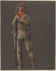 """Study for the figure of Daniel Boone, in """"The Apotheosis of Pennsylvania,"""" mural in the House Chamber, Pennsylvania State Capitol at Harrisburg"""
