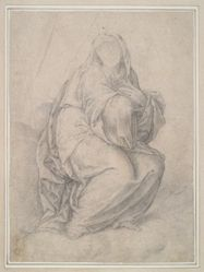 Study for Drapery of a Seated Female Figure