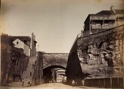 Argyle Cut, Sydney, Church Hill, Built by Convicts, from the album [Sydney, Australia]