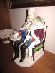Painted porcelain tobacco box of William I