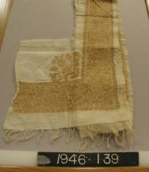 Length of cotton, embroidered