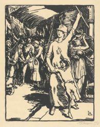 La Guerre est déclarée (War is Declared), from La Guerre de 1914, first series, no. 8