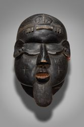 Mask Representing an Antisocial Male Character (Gongoli)