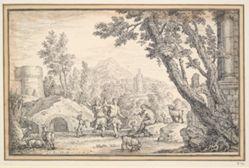Sheperd's Dancing in Classical Landscape