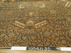 Square of cotton cloth, batik dyed