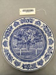 Plate with view of  Yale College Fence & Campus