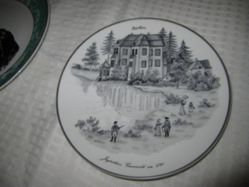 Plate with topographical view, Jagdschloss Grunewald um 1790