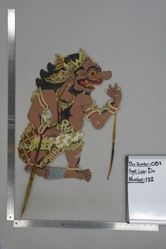 Shadow Puppet (Wayang Kulit) of Buta Begal, from the set Kyai Drajat