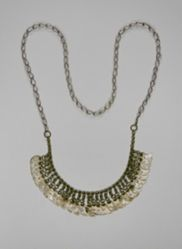 Necklace with Crescent Pieces