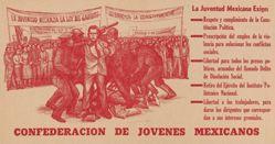 La juventud mexicana exige ... Confederación de Jóvenes Mexicanos (Mexican Youth Demands ... Confederation of Mexican Youth)
