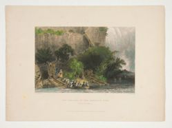 The Landing, on the American Side (Falls of Niagara), illustration for Nathaniel Parker Willis's book American Scenery