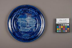 Plate with View of a Union Line Steamboat