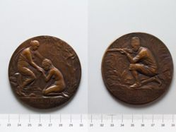 Bronze Medal from Belgium of World War I Africa Medal