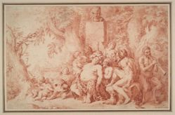 Drunken Silenus with Satyrs