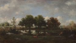 Forest Landscape with Stags