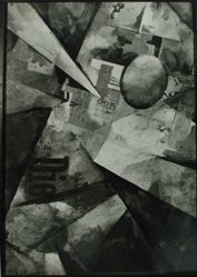 Photograph of Kurt Schwitters painting and collage [unidenfied location] -- from Katherine S. Dreier's private collection