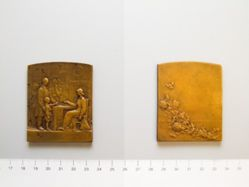 Bronze Plaquette of classroom from France