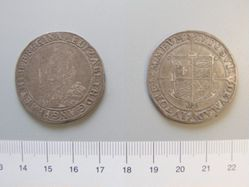 Silver halfcrown of Elizabeth I from London