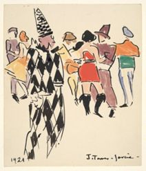 Artists' Ball:Harlequin and Dancers