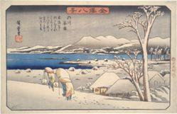 Evening Snow on the Uchikawa : The Eight Views of Kanazawa