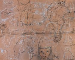 Untitled [Figure studies (recto); Abstract balloon shapes (verso)]