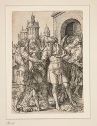 Lot Prevents the Inhabitants of Sodom from Violence, from the series The Story of Lot
