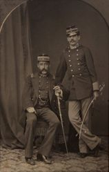 Studio Portrait of Two Military Men