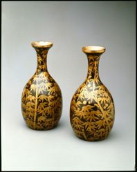 Pair of Sake Flasks