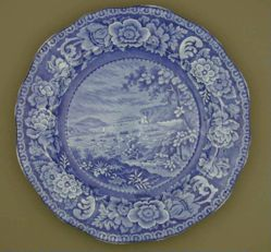 Plate with a view of Wright's Ferry on the Susquehanna