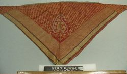 Triangle of brocaded plain cloth