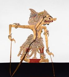 Shadow Puppet (Wayang Kulit) of Dursasana, from the consecrated set Kyai Nugroho