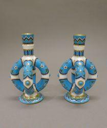 Pair of Double-Stirrup Vases