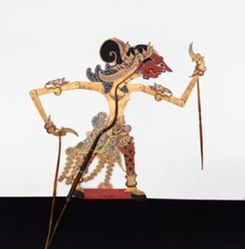 Shadow Puppet (Wayang Kulit) of Aswatama, from the consecrated set Kyai Nugroho