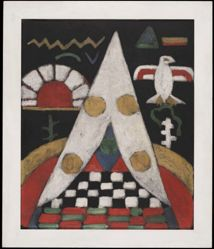 An Abstract Arrangement of American Indian Symbols