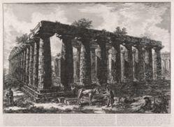 Vue des restes d'une grande enceinte de colonnes . . .  (View Showing the Remains of a Large Enclosure of Columns . . . ), from Différentes vues de . . . Pesto (Different Views of . . . Paestum)