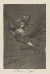 Buen viage. (Bon Voyage.), pl. 64 from the series Los caprichos